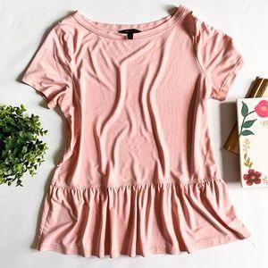Banana Republic Pink Blush Peplum Shirt Blouse
